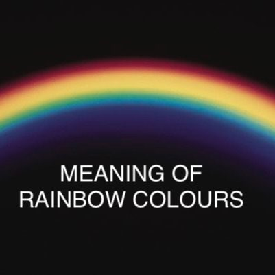 Meaning of Rainbow Colours.