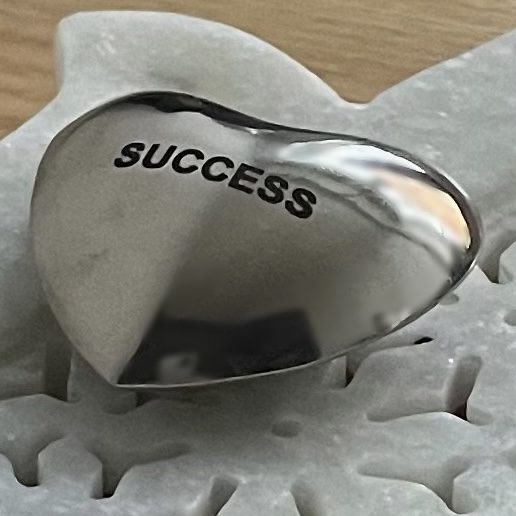 SUCCESS WISHING HEART