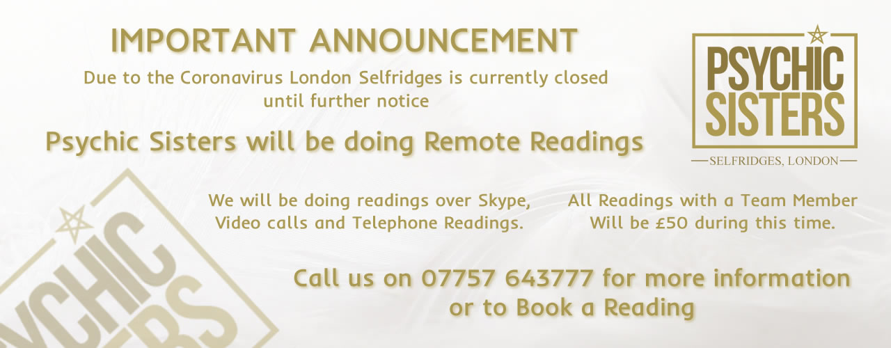 Jayne Wallace and the Psychic Sisters, Selfridges, London, Aura Reading, Clairvoyance Reading Remote Readings